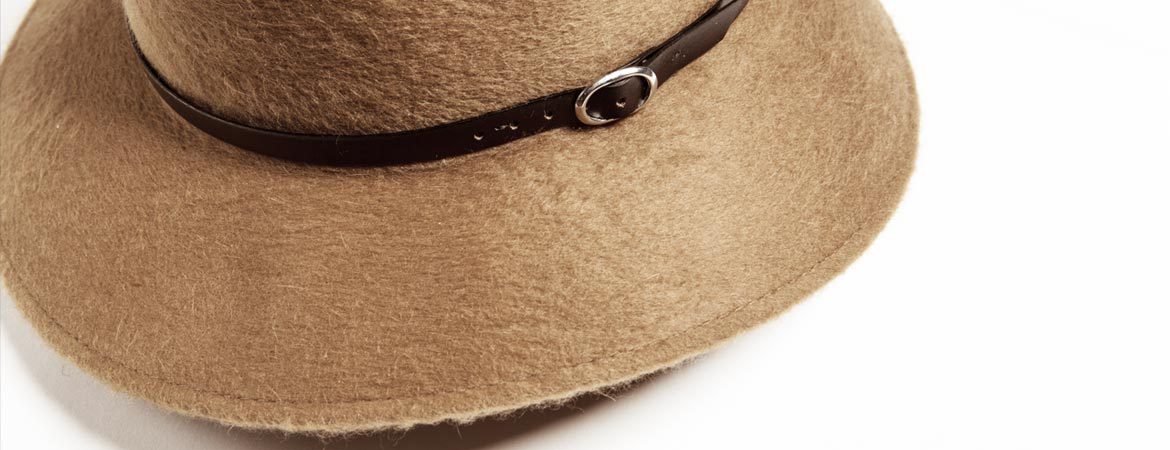 Fedora Tesa Larga in Cashmere
